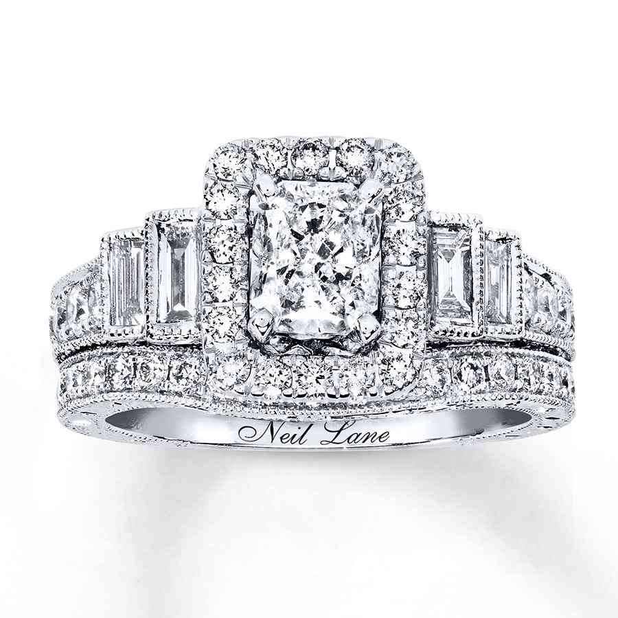 9a78b95eae675f Neil Lane Bridal Set 2-1/3 ct tw Diamonds 14K White Gold ...