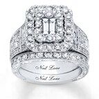 Neil Lane Bridal Set 3 1/4 ct tw Diamonds 14K White Gold