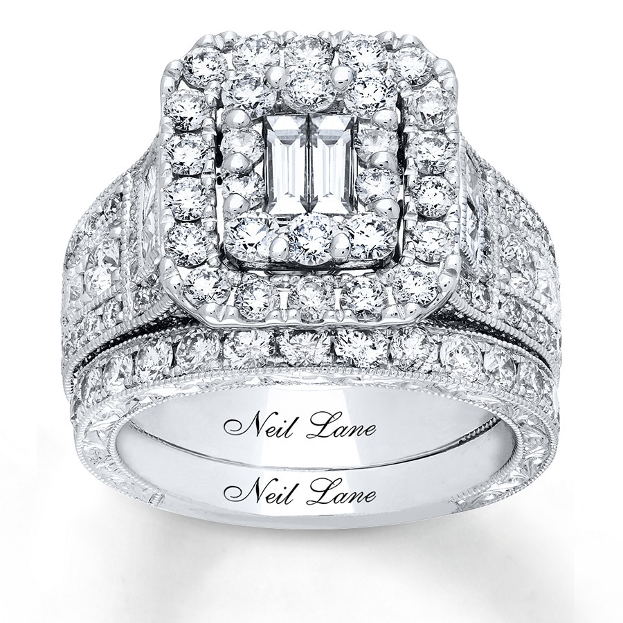 540cb37ac Neil Lane Bridal Set 3-1/4 ct tw Diamonds 14K White Gold ...