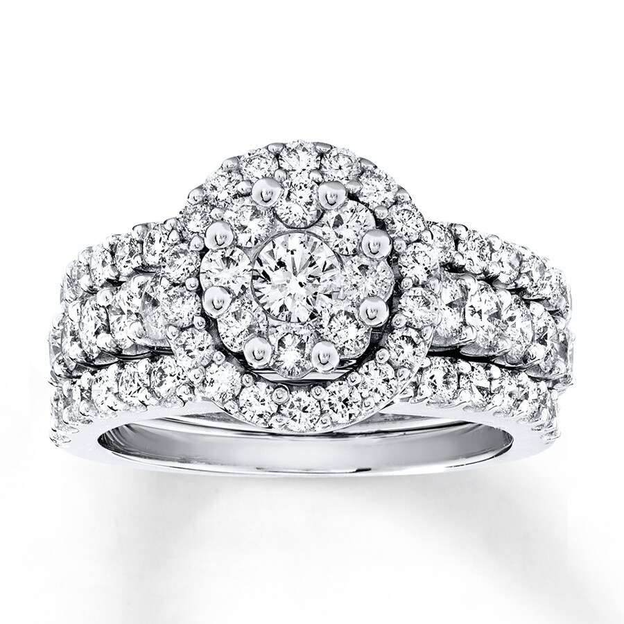 Diamond Bridal Set 2 Ct Tw Round-cut 14K White Gold