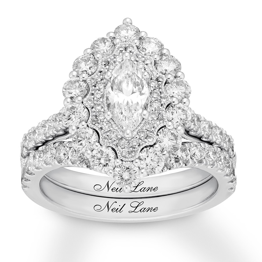 7372e8bf04474a Neil Lane Bridal Set 2-1/3 ct tw Diamonds 14K White Gold - 992130308 ...