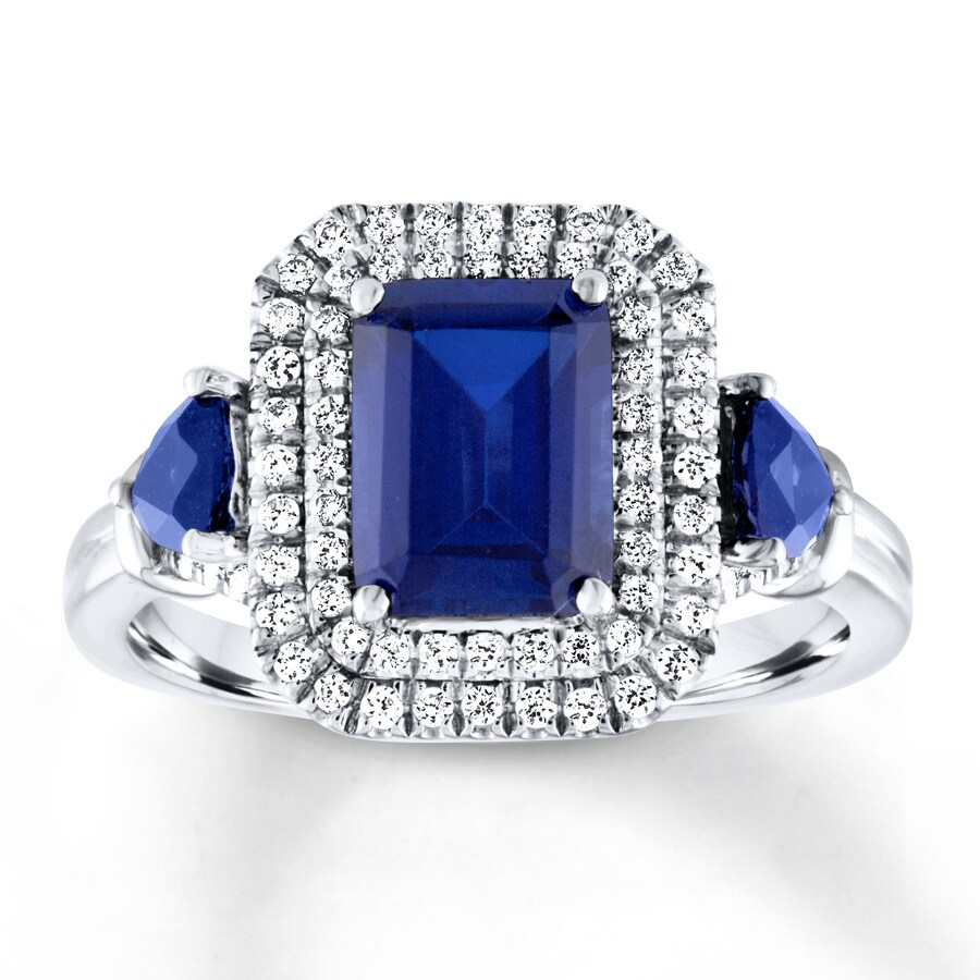 deco antique sapphire art ring pin diamond platinum