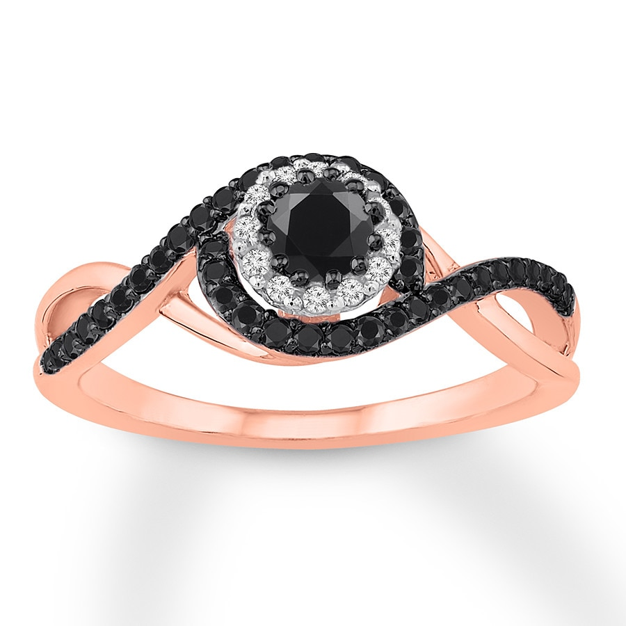 rings white engagement solitaire black j ring and i enhanced diamond gold round