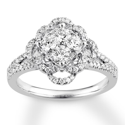 Diamond Engagement Ring 1 carat tw Round 14K White Gold