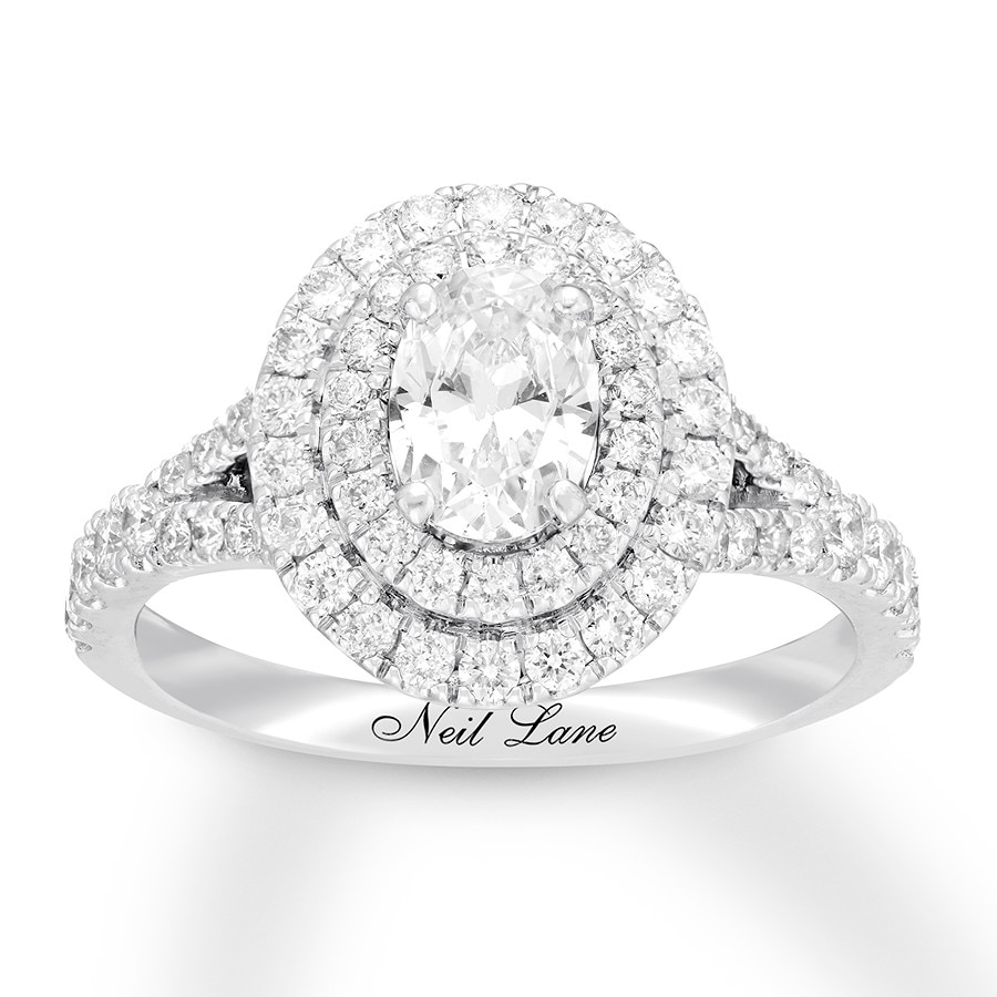 f0bb26894 Neil Lane Engagement Ring 1-5/8 ct tw Diamonds 14K White Gold ...