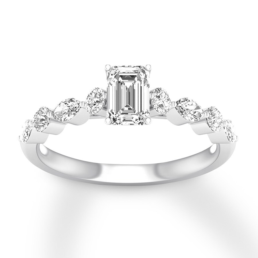 92276a111f80fc Diamond Engagement Ring 7/8 ct tw Emerald-cut 14K White Gold. Stock  #993002500 Write A Review. Tap to expand